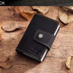 Kreditkartenetui RFID geschützt Business doppelt schwarz